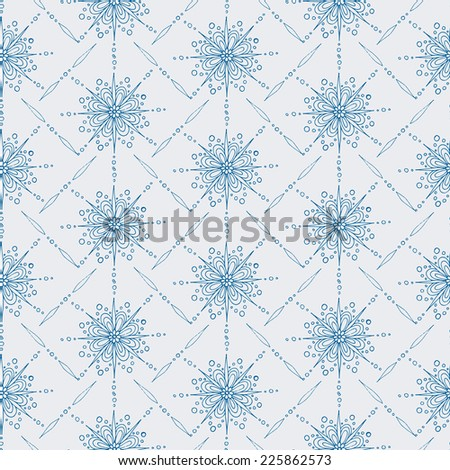 Seamless vector pattern. Winter theme in vintage style. Elegant background for your design. Seamless pattern can be used for wallpaper, pattern fills, web page background, surface and fabric textures. - stock vector