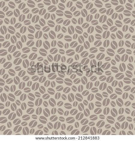 seamless vector pattern with coffee beans - stock vector