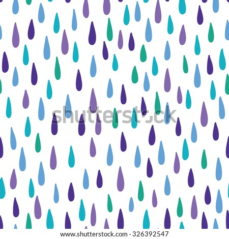 Seamless vector pattern with raindrops. - stock vector
