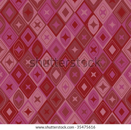 seamless vector patterns in red - stock vector