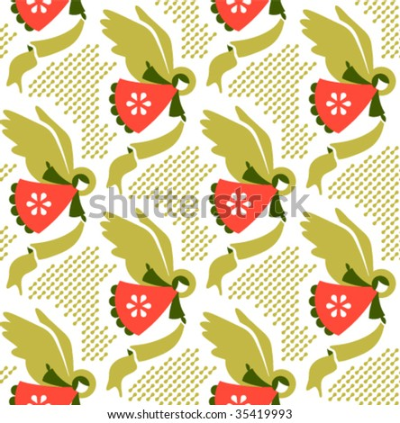 Seamless vector repeating pattern - stock vector