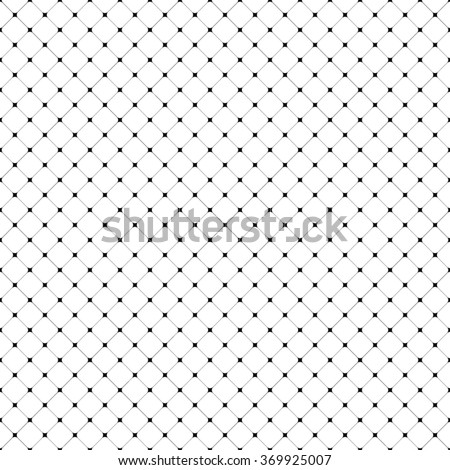 Seamless vector simple pattern with rounded squares - stock vector
