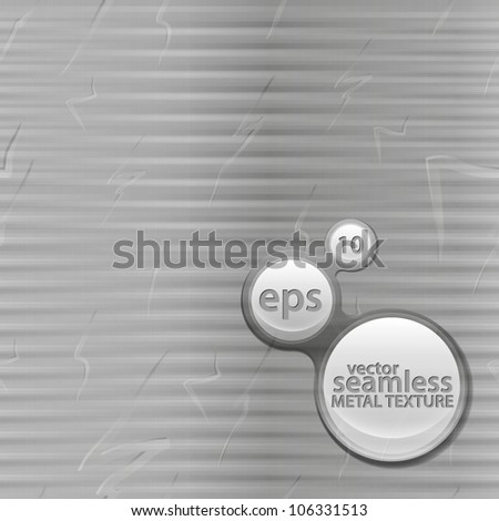 Seamless vector texture as brushed and scratched metal seamless pattern - stock vector