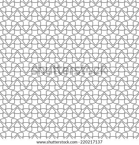 Seamless vector texture with abstract elements - stock vector