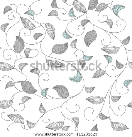 Seamless vector texture with small leafs - stock vector