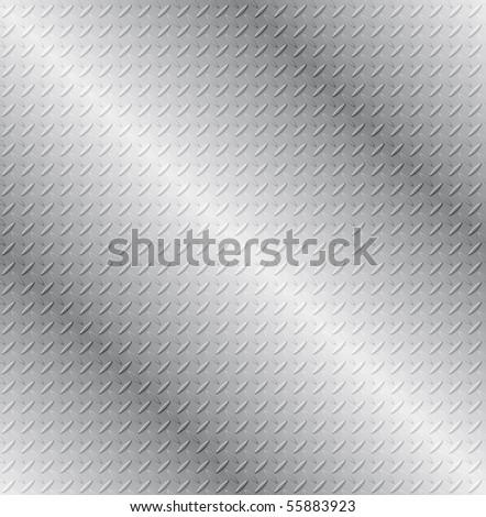 SEAMLESS Vector Tread Plate Texture - stock vector