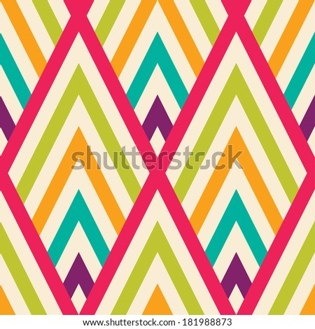 Seamless vector zigzag  pattern background - stock vector