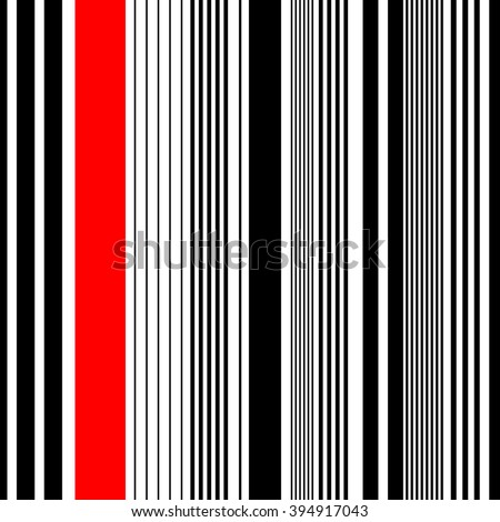 Seamless Vertical Stripe Pattern. Vector Red Background. White Minimal Wallpaper. Wrapping Paper Pattern - stock vector