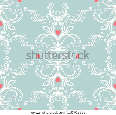 Seamless vintage background  baroque pattern - stock vector