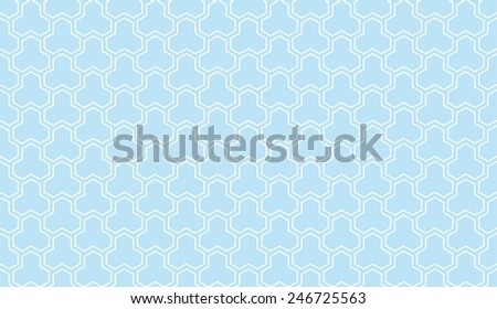 Seamless vintage blue trident isometric pattern vector - stock vector