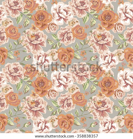 Seamless vintage floral pattern  - stock vector