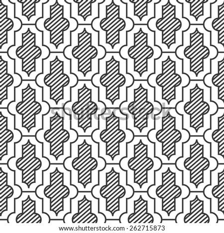 Seamless vintage moroccan pattern vector - stock vector