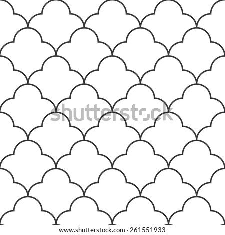 Seamless vintage round based pattern vector - stock vector