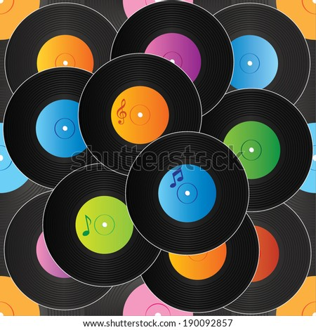 Seamless vinyl background vector - stock vector