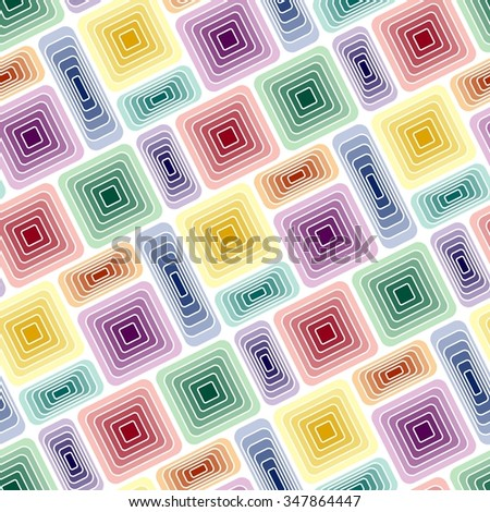 Seamless vivid tile pattern with multicolor elements - stock vector