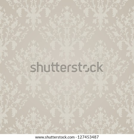 Seamless wallpaper. Damask vintage design - stock vector