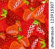 seamless wallpaper for holiday packages featuring berries and strawberry fruit - stock vector