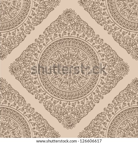 Seamless wallpaper pattern. - stock vector