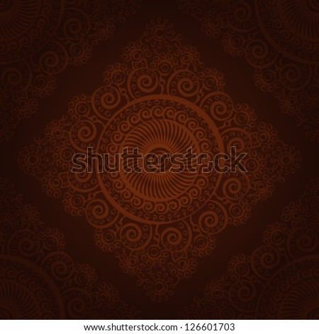 Seamless wallpaper pattern,chocolate, eps 10. - stock vector
