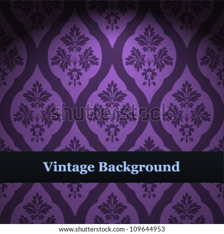 Seamless wallpaper pattern. Purple vector background. - stock vector