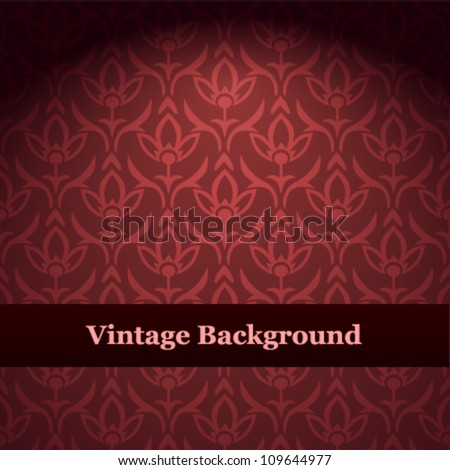 Seamless wallpaper pattern. Red vector background. - stock vector