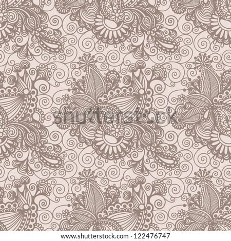 Seamless wallpaper, vector background - stock vector