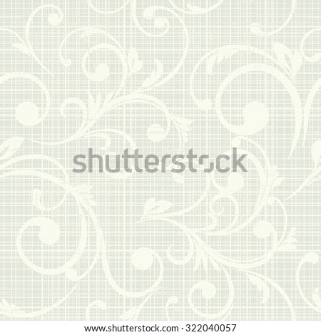 Seamless wallpaper, vector background. Abstract Floral pattern - stock vector