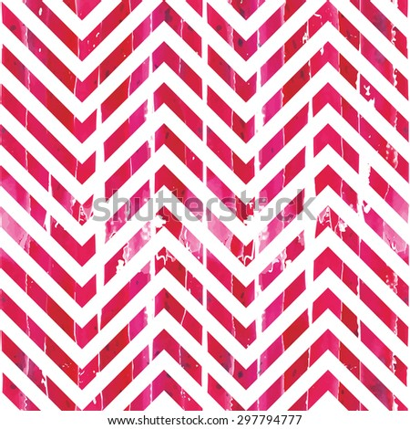 seamless watercolor chevron pattern - stock vector