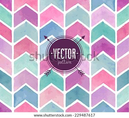 Seamless watercolor pattern. Vector illustration. - stock vector