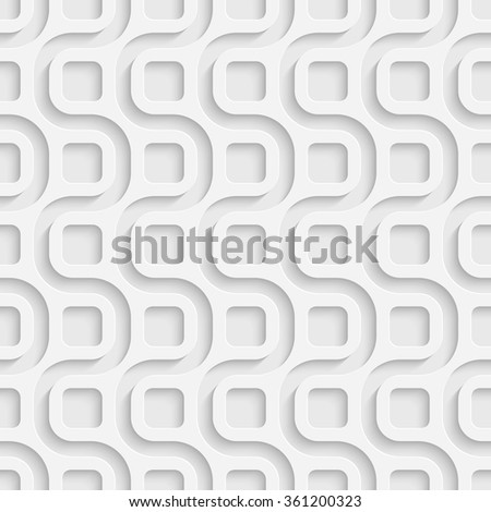 Seamless Wave Pattern. Vector Soft Background. Regular White Texture - stock vector