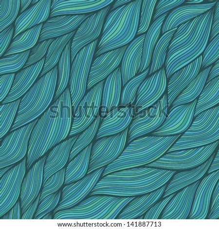 Seamless waves texture,wavy background.Copy that square to the side and you'll get seamlessly tiling pattern which gives the resulting image the ability to be repeated or tiled without visible seams. - stock vector