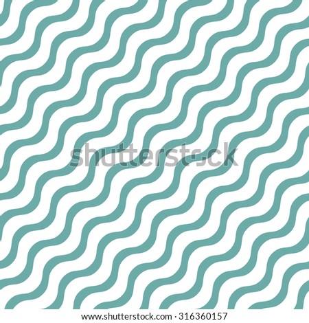 Seamless wavy line pattern. Vector Illustration. - stock vector