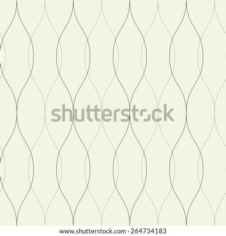 Seamless wavy retro background. vector pattern - stock vector