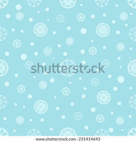 Seamless winter background with snowflakes. Winter pattern. For cards, invitations, wedding or baby shower albums, backgrounds, arts and scrapbooks. Vector image.  - stock vector