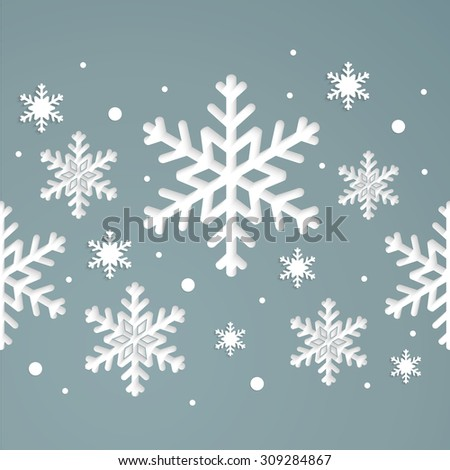 seamless winter texture. Winter background. Christmas template. - stock vector