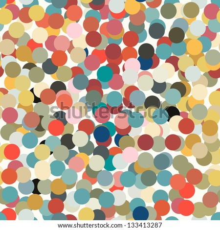 Seamless with colorful confettis on a light background. - stock vector