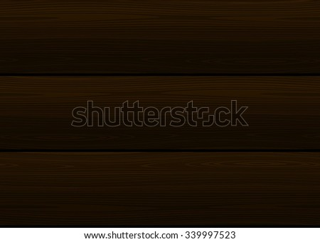 Seamless wood texture. Vector dark planking background. Walnut, cedar or wenge color - stock vector