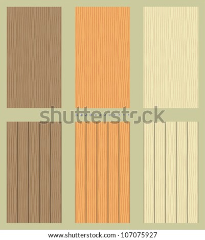 Seamless wooden backgrounds - stock vector