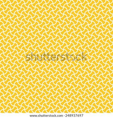 Seamless yellow arc based geometric pattern vector - stock vector