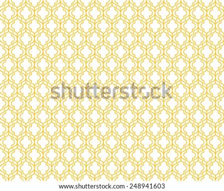 Seamless yellow art deco pattern vector - stock vector