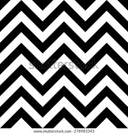 Seamless Zig Zag Pattern. Abstract  Black and White Background. Vector Regular Texture - stock vector