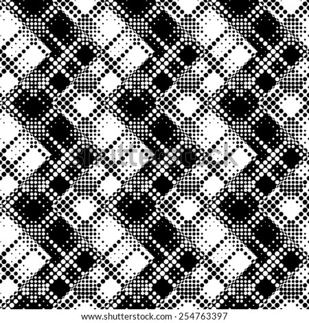 Seamless ZigZag Pattern. Abstract  Black and White Background. Vector Regular Texture - stock vector