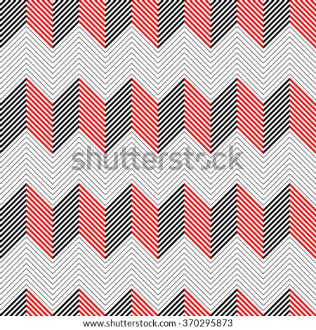 Seamless ZigZag Pattern. Vector Chevron Background - stock vector