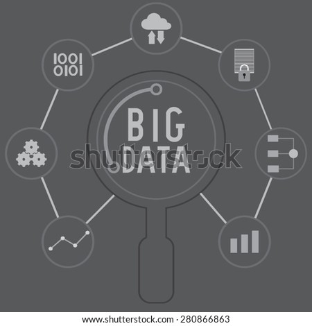 search big data - stock vector
