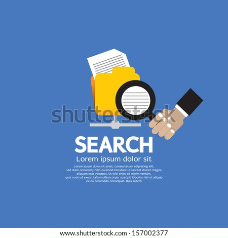 Search Concept Vector Illustration EPS10 - stock vector