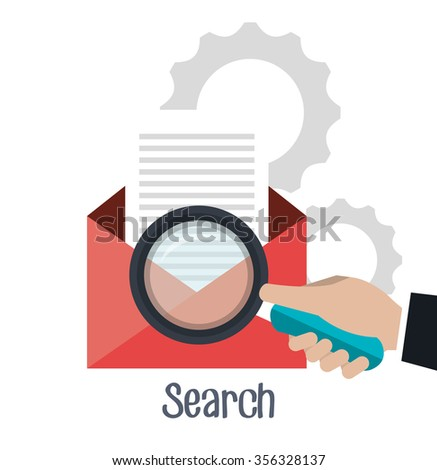 Search Engine Optimization graphic design, vector illustration - stock vector
