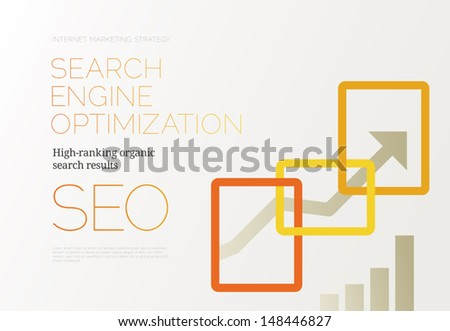 Search Engine Optimization - SEO - Success Concept - stock vector
