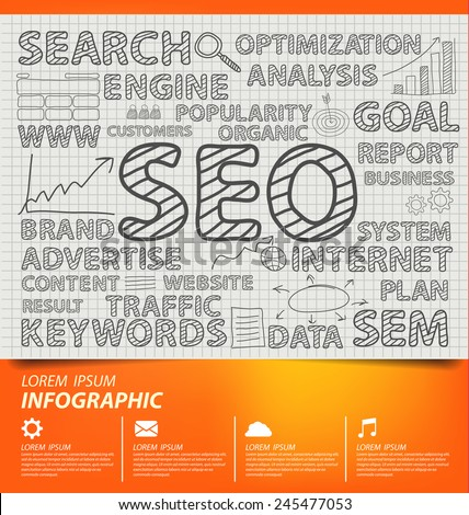 search engine optimization. vector Illustration. - stock vector