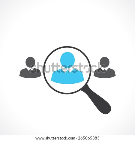 search for employees - stock vector