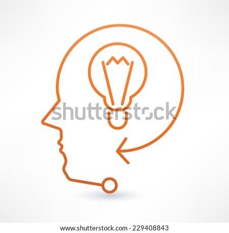 Search ideas icon. Design logo. - stock vector